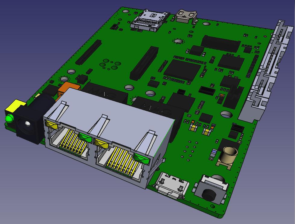 Rugged Industrial Single Board Computer Venice GW7200 3D