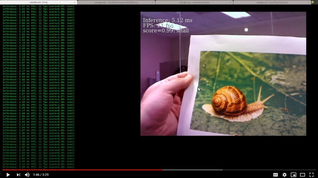 Google Coral Identifying Object