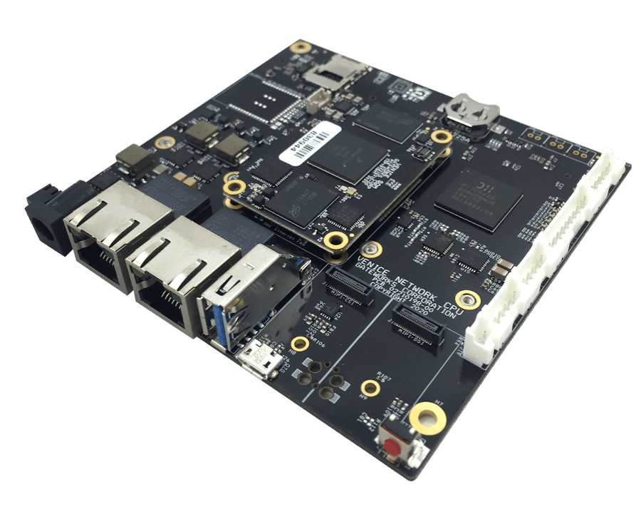 Rugged and Industrial Single Board Computer with i.MX8M CPU, 2 Ethernet Ports and 3 Mini-PCIe slots