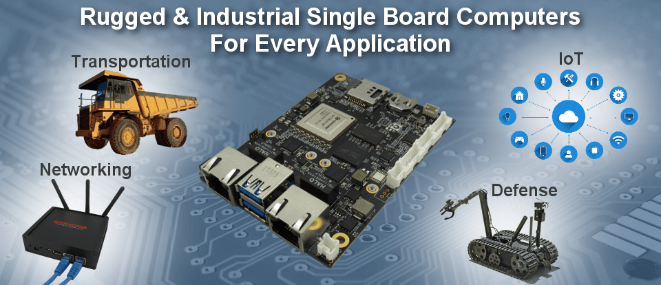Rugged and Industrial Single Board Computers for Embedded Applications, Made in the USA, Industrial Temperature and Customizing available.