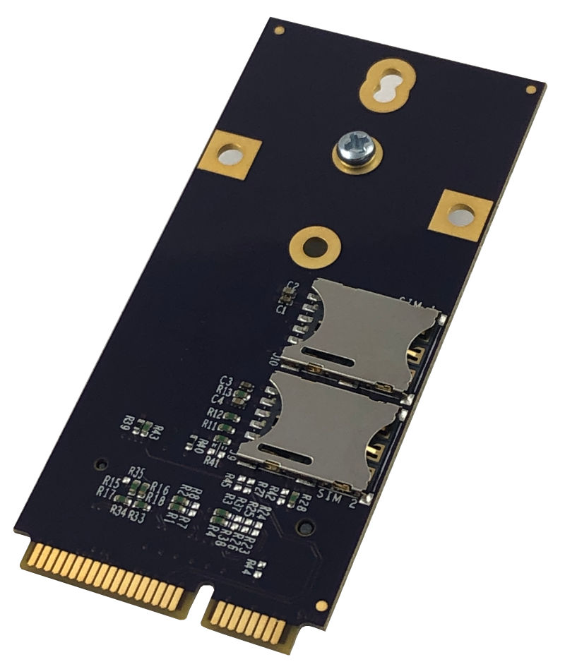 Bottom side of Mini-PCIe to M.2 Adapter