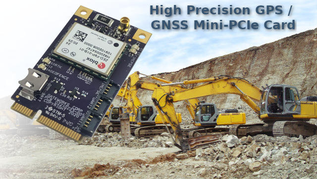 High Precision GPS Mini-PCIe Card ublox ZED-F9P Banner