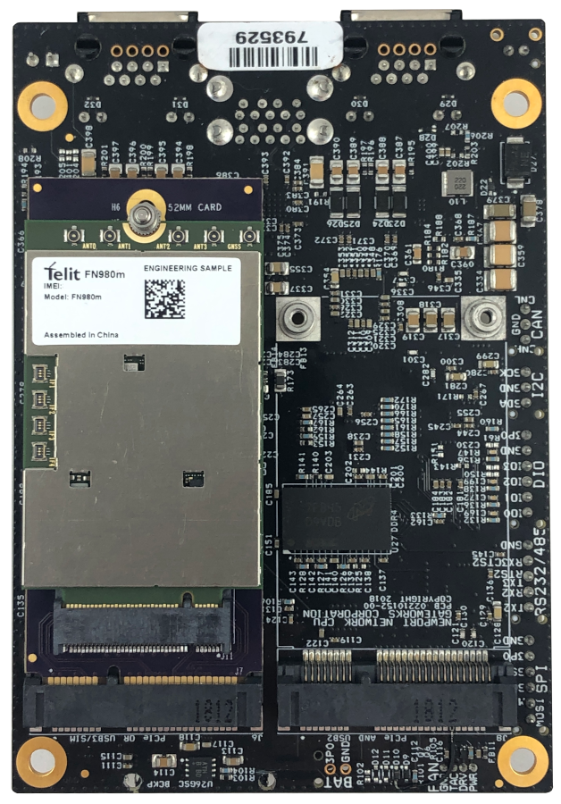 m.2 cellular adapter mounted on sbc with modem